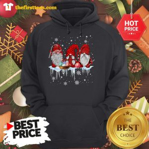 Three Gnomes Small In Red Costume Christmas Wonderful Hoodie - Design by Thefristtees.com