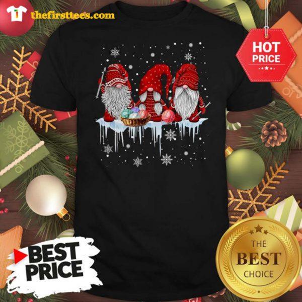 Three Gnomes Small In Red Costume Christmas Wonderful Shirt