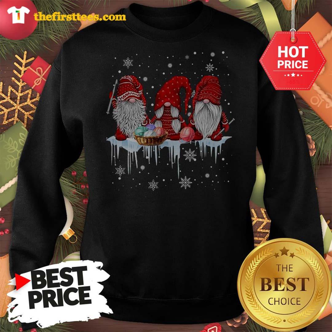 Three Gnomes Small In Red Costume Christmas Wonderful Sweatshirt