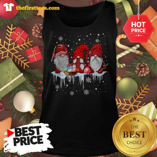 Three Gnomes Small In Red Costume Christmas Wonderful Tank Top