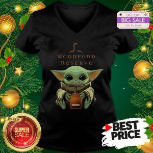 Baby Yoda Hug Woodford Reserve Star Wars V-Neck