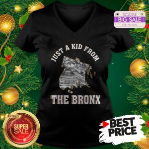 Beautiful Just A Kid From The Bronx New York V-Neck