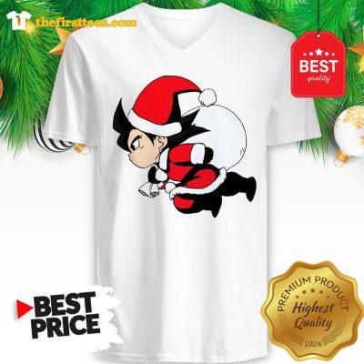Funny Goku With Christmas V-neck - Design by Thefristtees.com