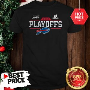 Like Buffalo Bills Logo 2019 100 NFL Playoffs Shirt