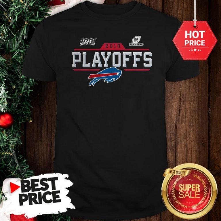 Like Buffalo Bills Logo 2019 100 NFL Playoffs Shirt