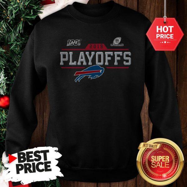 Like Buffalo Bills Logo 2019 100 NFL Playoffs Sweatshirt