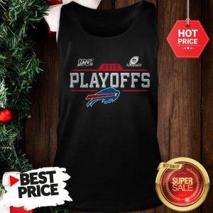 Like Buffalo Bills Logo 2019 100 NFL Playoffs Tank Top