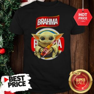 Lovely Star Wars Baby Yoda Hug Brahma Beer Mandalorian Shirt