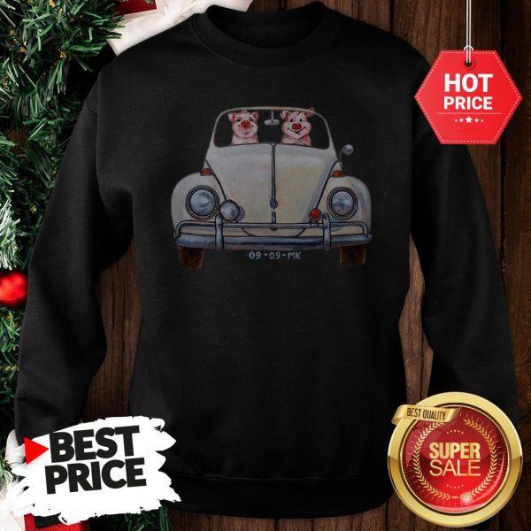 Nice Pigs Driving Volkswagen Car Sweatshirt