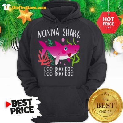 Nonna Shark Doo Doo Doo Christmas Lovely Hoodie - Design by Thefristtees.com