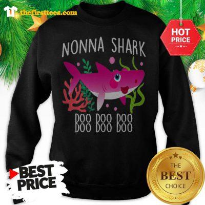 Nonna Shark Doo Doo Doo Christmas Lovely Sweatshirt - Design by Thefristtees.com