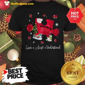 Official Autism Love Accept Understand Merry Christmas Shirt - Design by Thefristtees.com