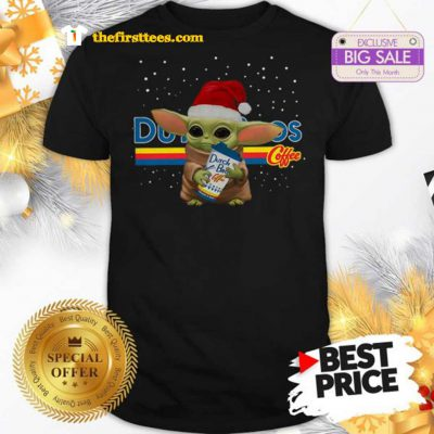 Official Baby Yoda Hug Dutch Bros Coffee Christmas Lovely Shirt - Design by Thefristtees.com