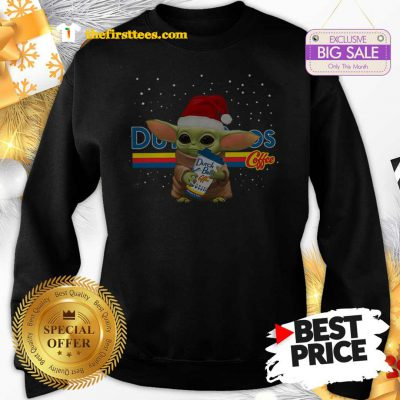 Official Baby Yoda Hug Dutch Bros Coffee Christmas Lovely Sweatshirt - Design by Thefristtees.com