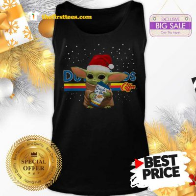 Official Baby Yoda Hug Dutch Bros Coffee Christmas Lovely Tank Top - Design by Thefristtees.com