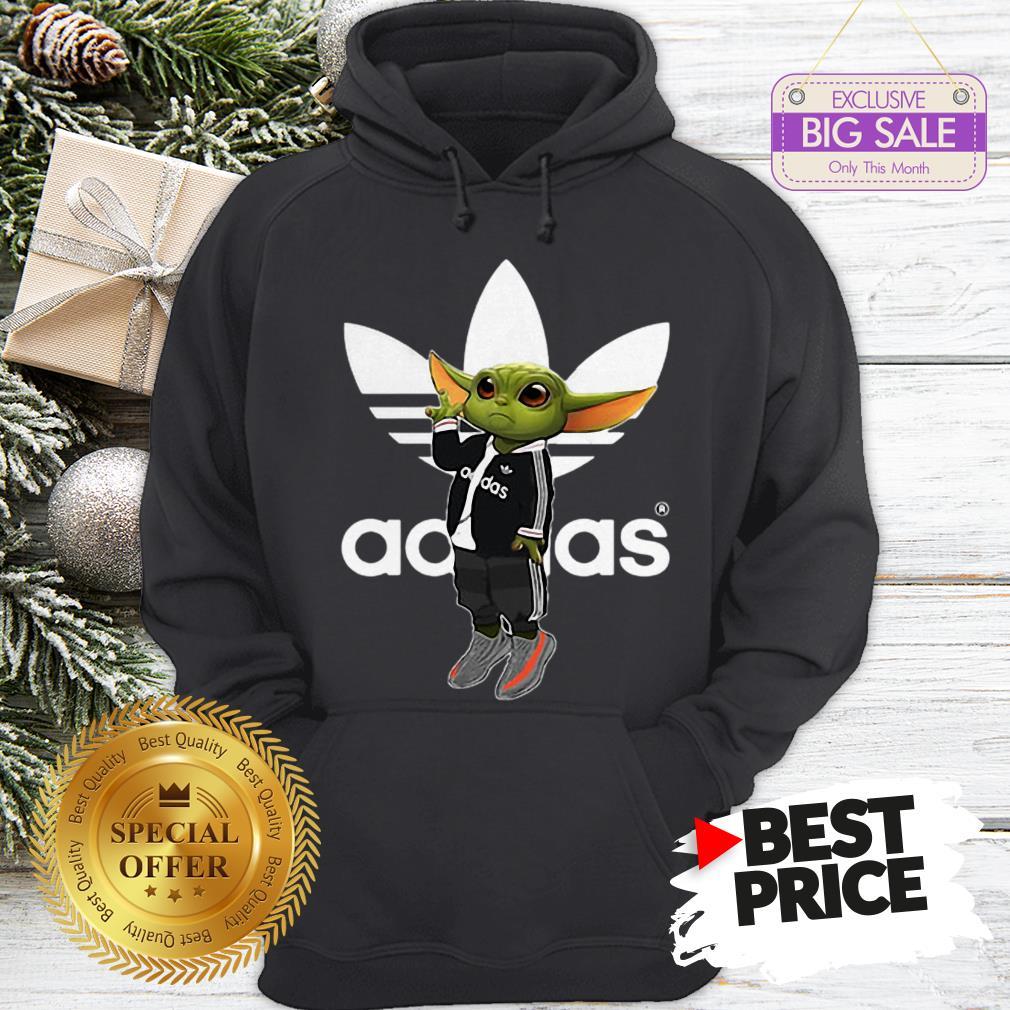 Official Baby Yoda Mashup Adidas Hoodie