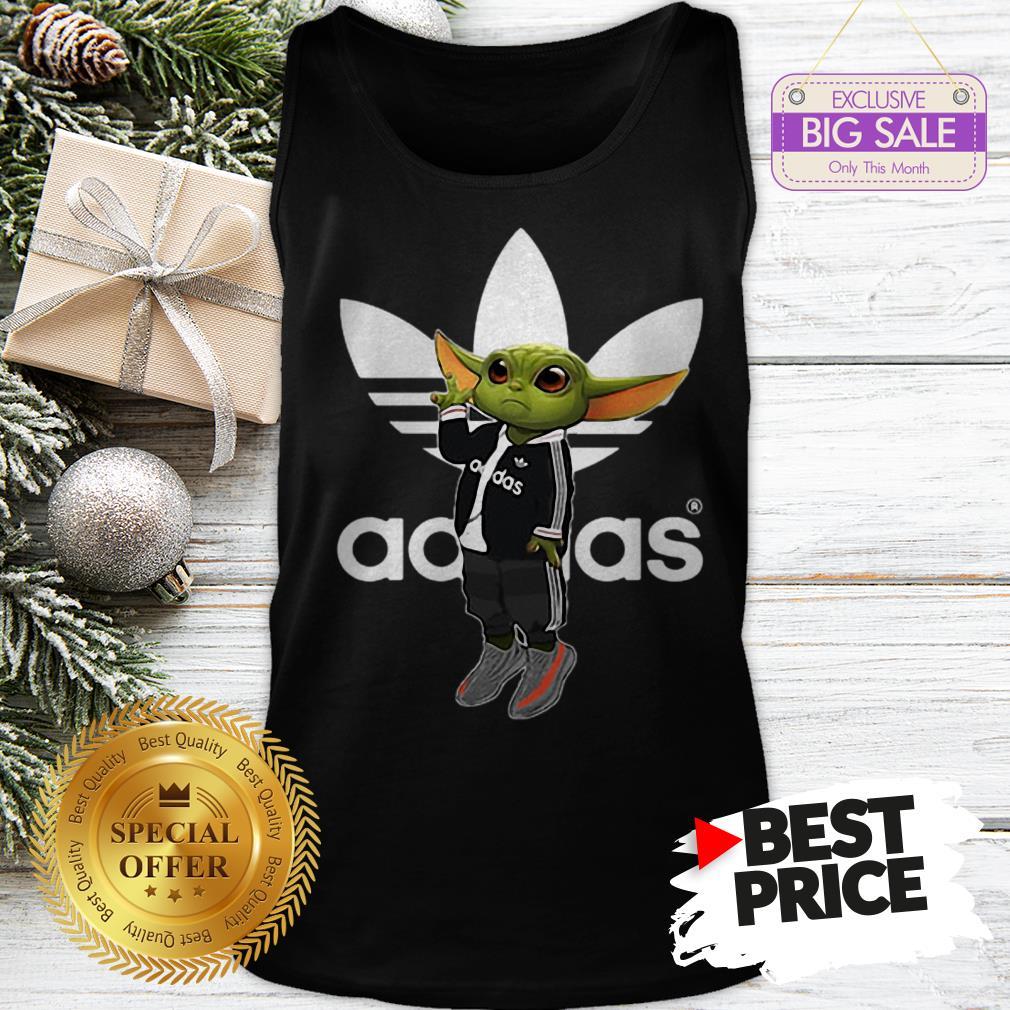 Official Baby Yoda Mashup Adidas Tank Top