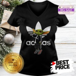 Official Baby Yoda Mashup Adidas V-Neck