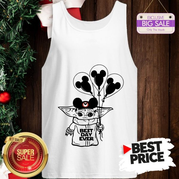 Official Baby Yoda Mickey Best Day Ever Tank Top