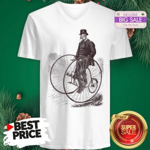 Official Bicycle Cycling History Bike Cyclists V-Neck
