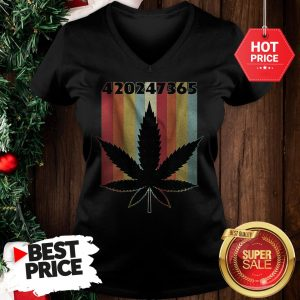 Official Cannabis Weed 420247365 Vintage V-Neck