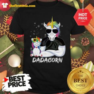 Official Dadacorn Unicorn Dad And Daughter Christmas Shirt - Design by Thefristtees.com