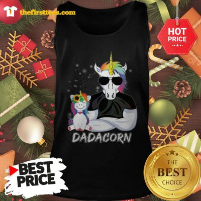 Official Dadacorn Unicorn Dad And Daughter Christmas Tank Top - Design by Thefristtees.com