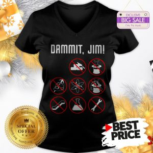 Official Dammit Jim I'm A Doctor Star Trek V-Neck