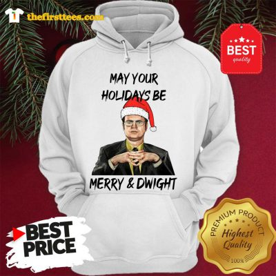 Official Dwight Schrute May Your Christmas Be Merry And Dwight Christmas Hoodie - Design by Thefristtees.com