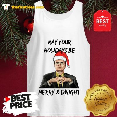 Official Dwight Schrute May Your Christmas Be Merry And Dwight Christmas Tank Top - Design by Thefristtees.com