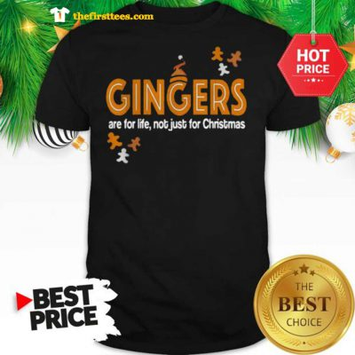Official Gingers Are For Life Not Just For Christmas Shirt - Design by Thefristtees.com