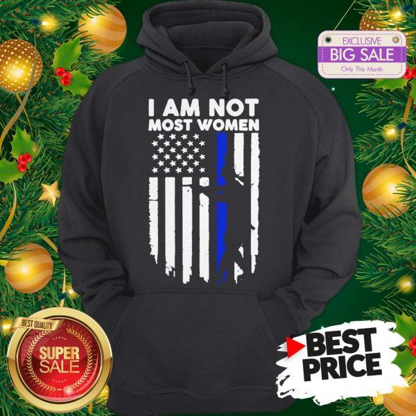 Official Gun Girl I Am Not Most Women Thin Blue Line Hoodie