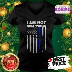 Official Gun Girl I Am Not Most Women Thin Blue Line V-Neck
