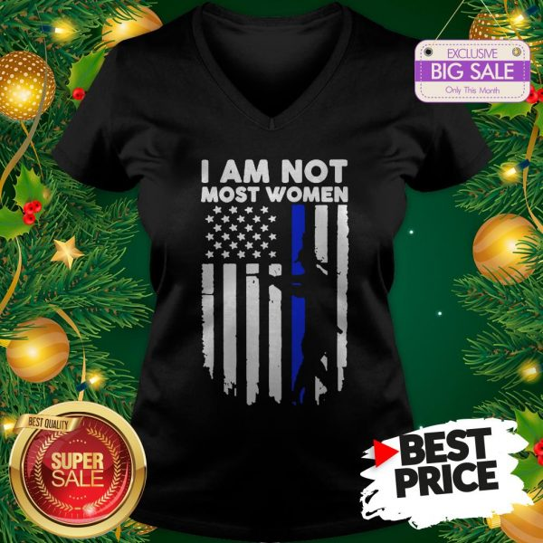 Official Gun Girl I Am Not Most Women Thin Blue Line V-Neck