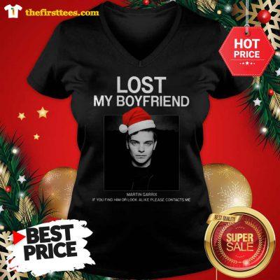 Official Hot Men Lost My Boyfriend Martin Garrix If You Find Him Or Look Alike V-Neck - Design by Thefristtees.com