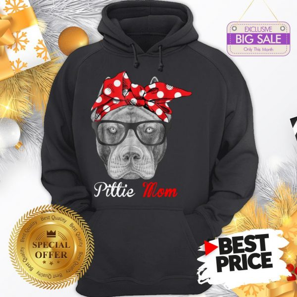 Official Hot Pitbull Dog Pittie Mom Hoodie