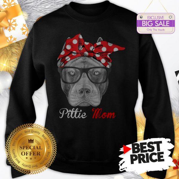 Official Hot Pitbull Dog Pittie Mom Sweatshirt