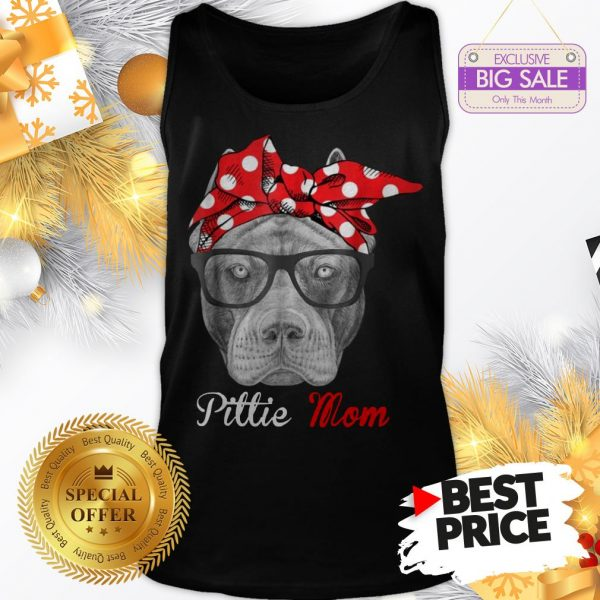 Official Hot Pitbull Dog Pittie Mom Tank Top