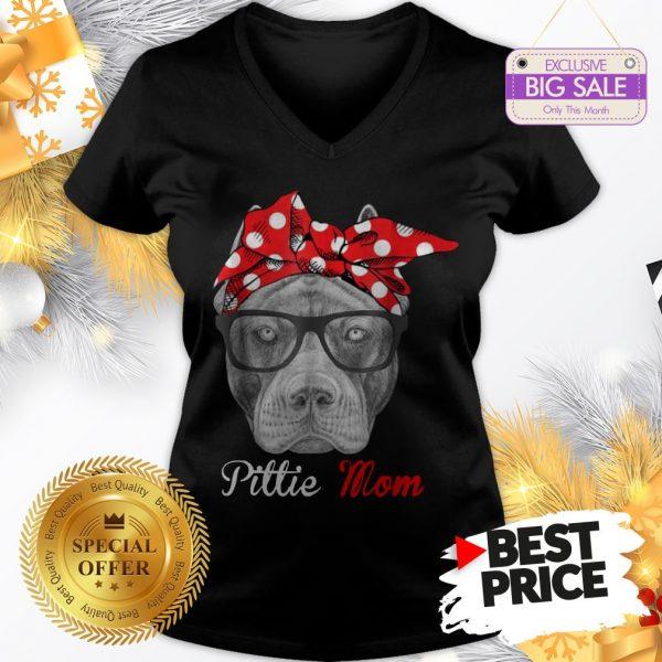 Official Hot Pitbull Dog Pittie Mom V-Neck