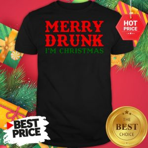 Official Merry Drunk I'm Christmas Shirt