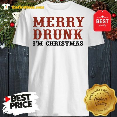 Official Merry Drunk I'm Christmas Shirt - Design by Thefristtees.com