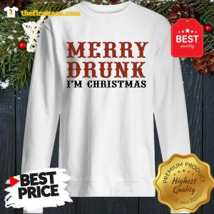 Official Merry Drunk I'm Christmas Sweatshirt - Design by Thefristtees.com