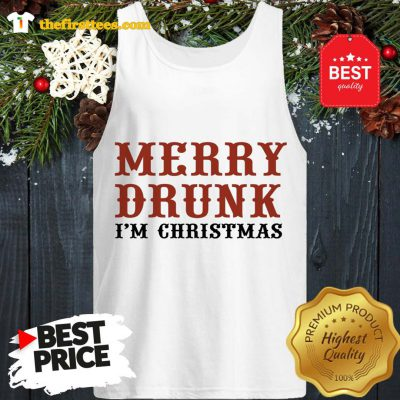 Official Merry Drunk I'm Christmas Tank Top - Design by Thefristtees.com