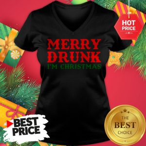 Official Merry Drunk I'm Christmas V-neck