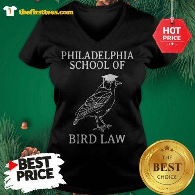Official Philadelphia School of Bird Law V-neck - Design by Thefristtees.com