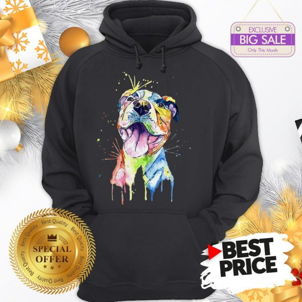 Official Resting Pitbull Face Artistic Colors Hoodie