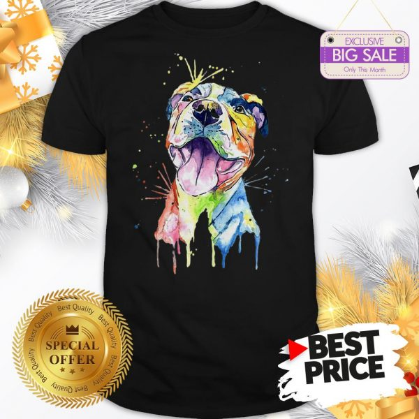 Official Resting Pitbull Face Artistic Colors Shirt