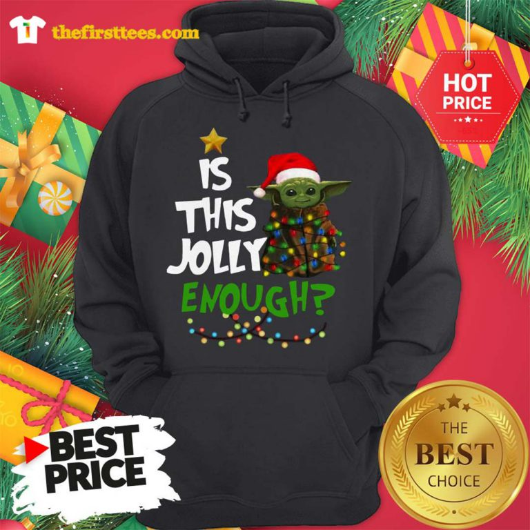Official Santa Baby Yoda Is This Jolly Enough Christmas Hoodie - Design by Thefristtees.com