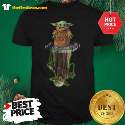 Official The Mandalorian Yoda Star Wars Water Reflection Shirt - Design by Thefristtees.com