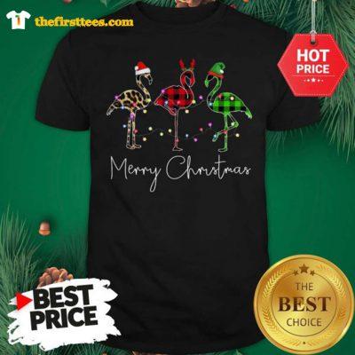 Official Three The Bird Santa Merry Christmas Shirt - Design by Thefristtees.com